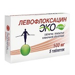 Левофлоксацин Эколевид таблетки 500 мг