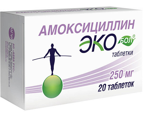 Amoxicillin Ekobol® tablets 250 mg